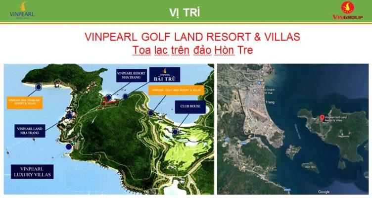 Vị trí Vinpearl Golf Land Nha Trang