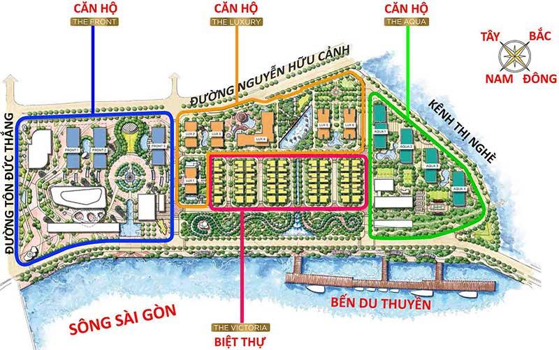tổng thể dự án vinhomes grolden river quận 1