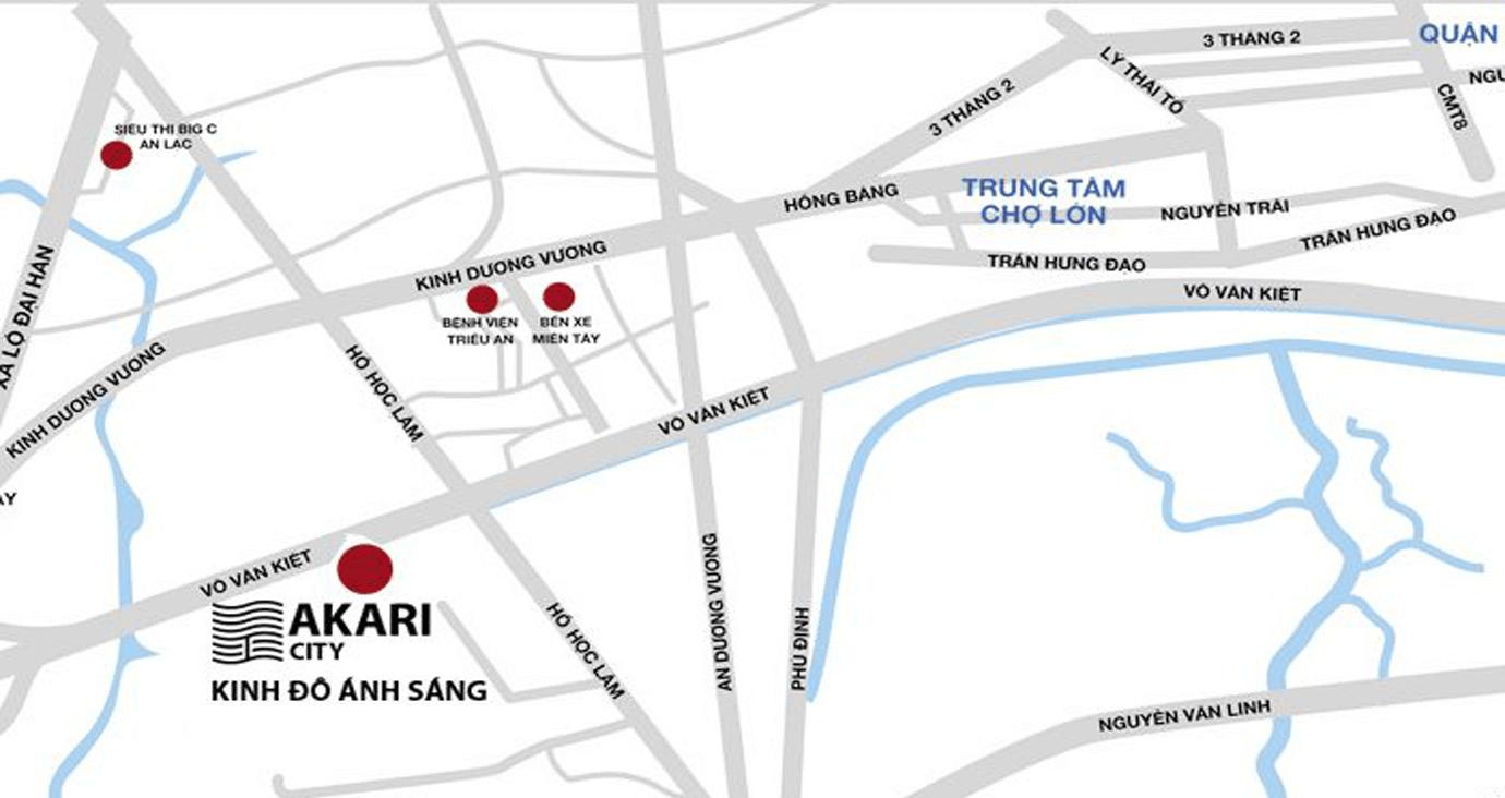 Vị trí dự án Akari City