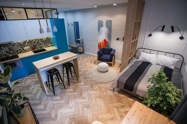 căn hộ studio 1 phòng ngủ