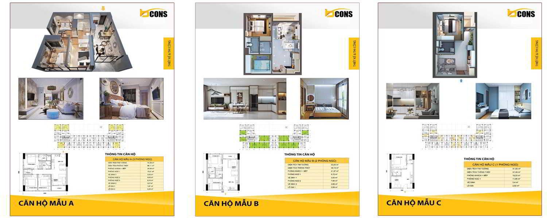 3 mẫu căn hộ điển hình