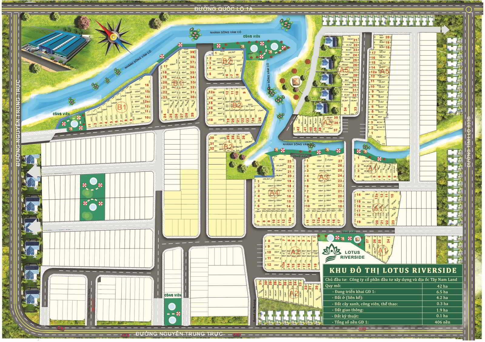 Sơ đồ phân lô dự án Lotus Riverside