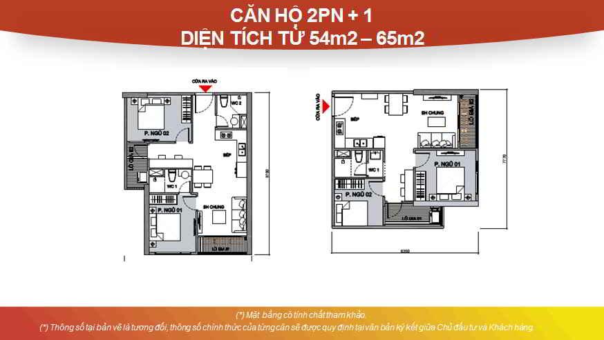 Thiết kế căn hộ Studio 2 phòng ngủ + 1