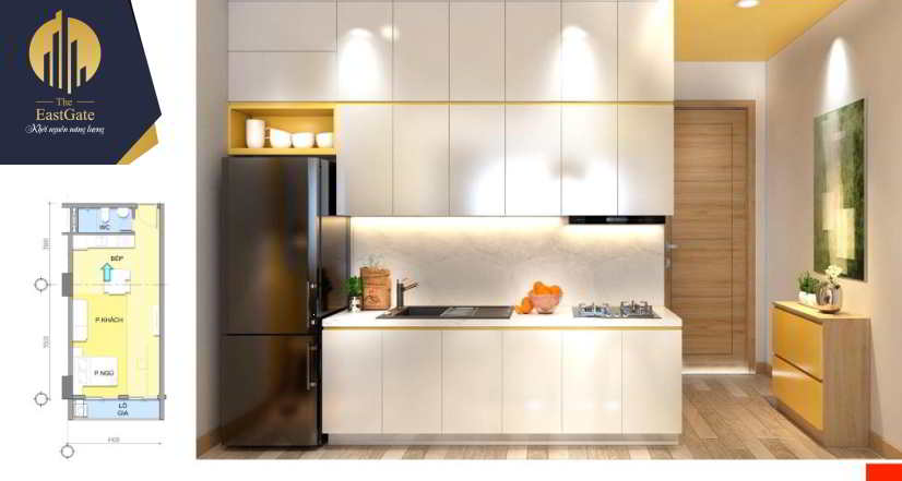 Căn hộ mẫu The EastGate - Loại căn Studio - Phòng Bếp