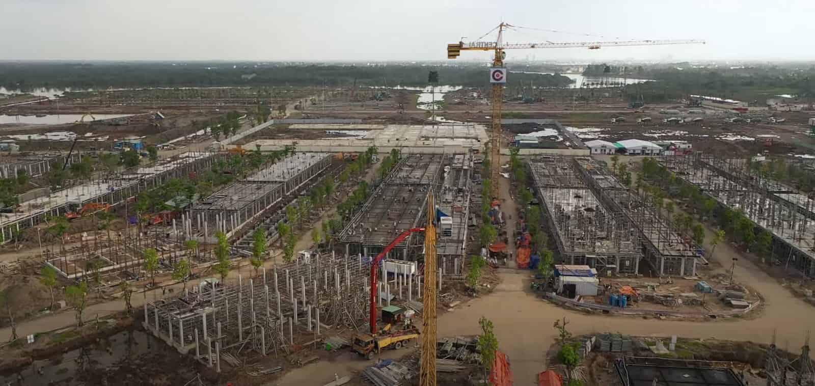 tiến độ xây dựng phân khu thấp tầng vinhomes quận 9