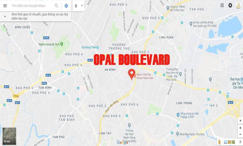 vị trí opal boulevard phạm văn đồng
