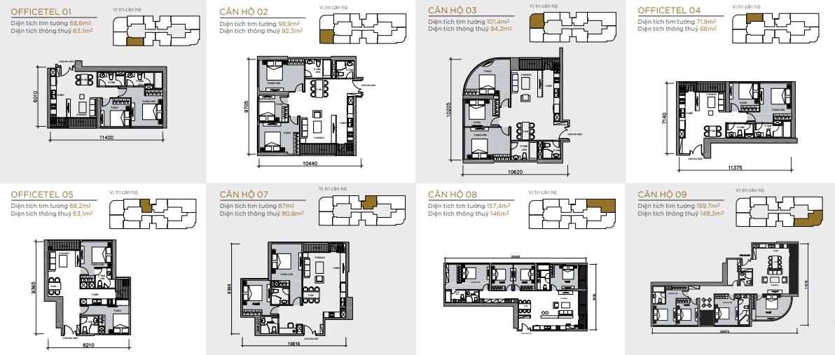 măt bằng căn hộ toà aqua 2 tầng 42-47 vinhomes golden river