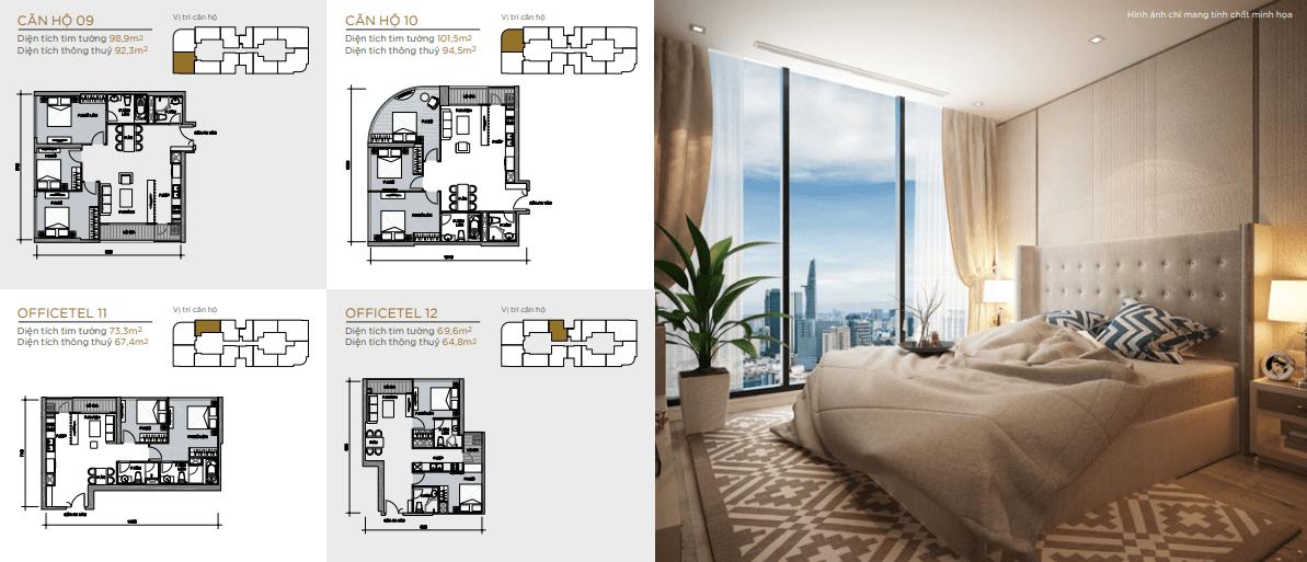 layout căn hộ tầng điển hình aqua 4