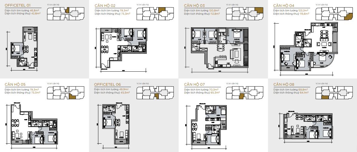 layout căn hộ tầng điền hình aqua 4