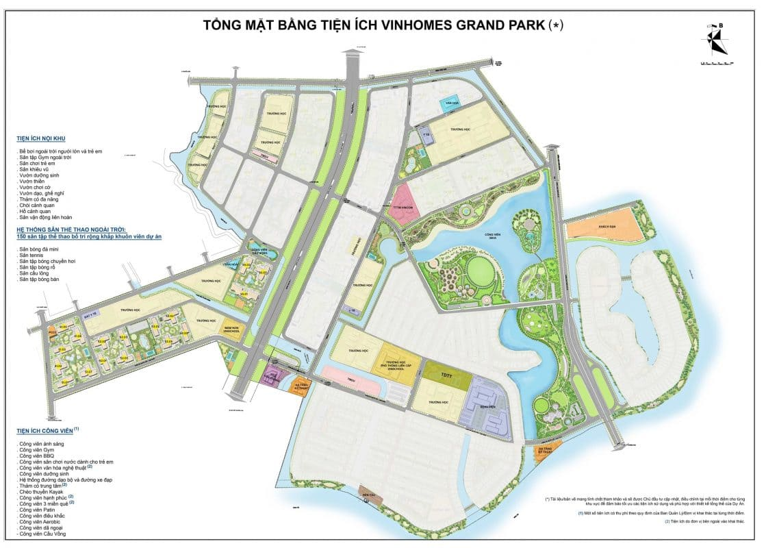 vị trí the rainbow vinhomes grand park