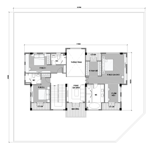 biệt thự đơn lập mẫu 1