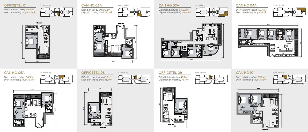 layout căn hộ toà aqua 1 vinhomes golden river