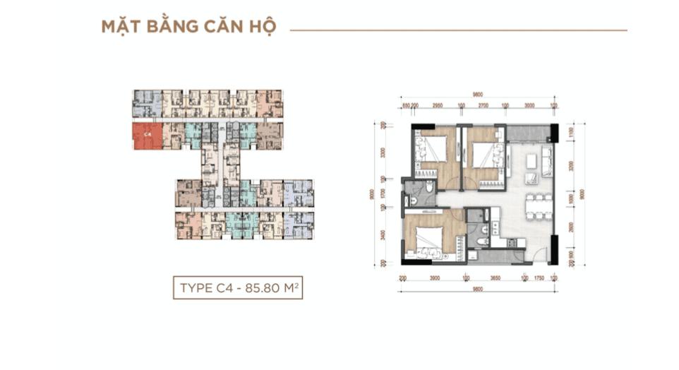 thiết kế căn hộ dự án la partenza