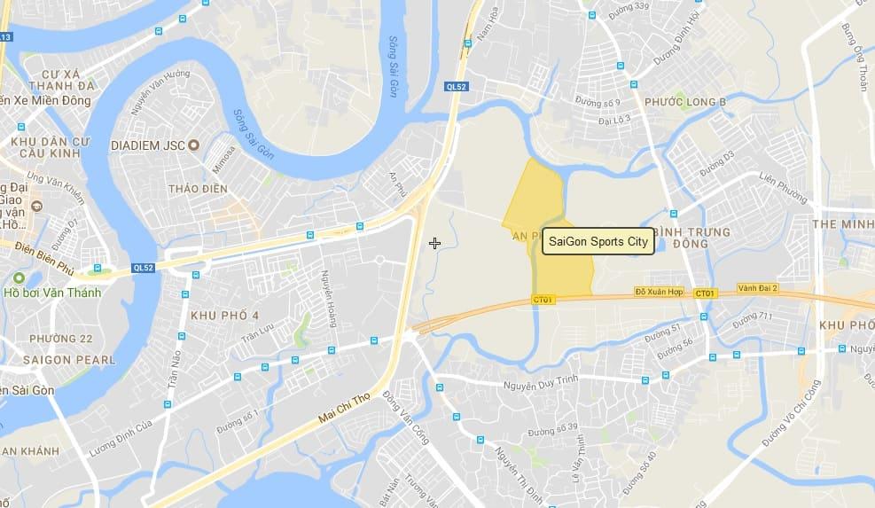 vị trí dự án saigon sports city