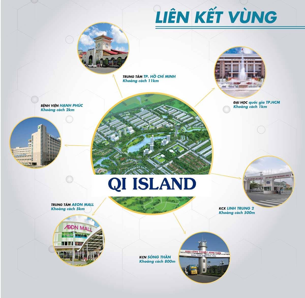 tiện ích dự án qi island riverside