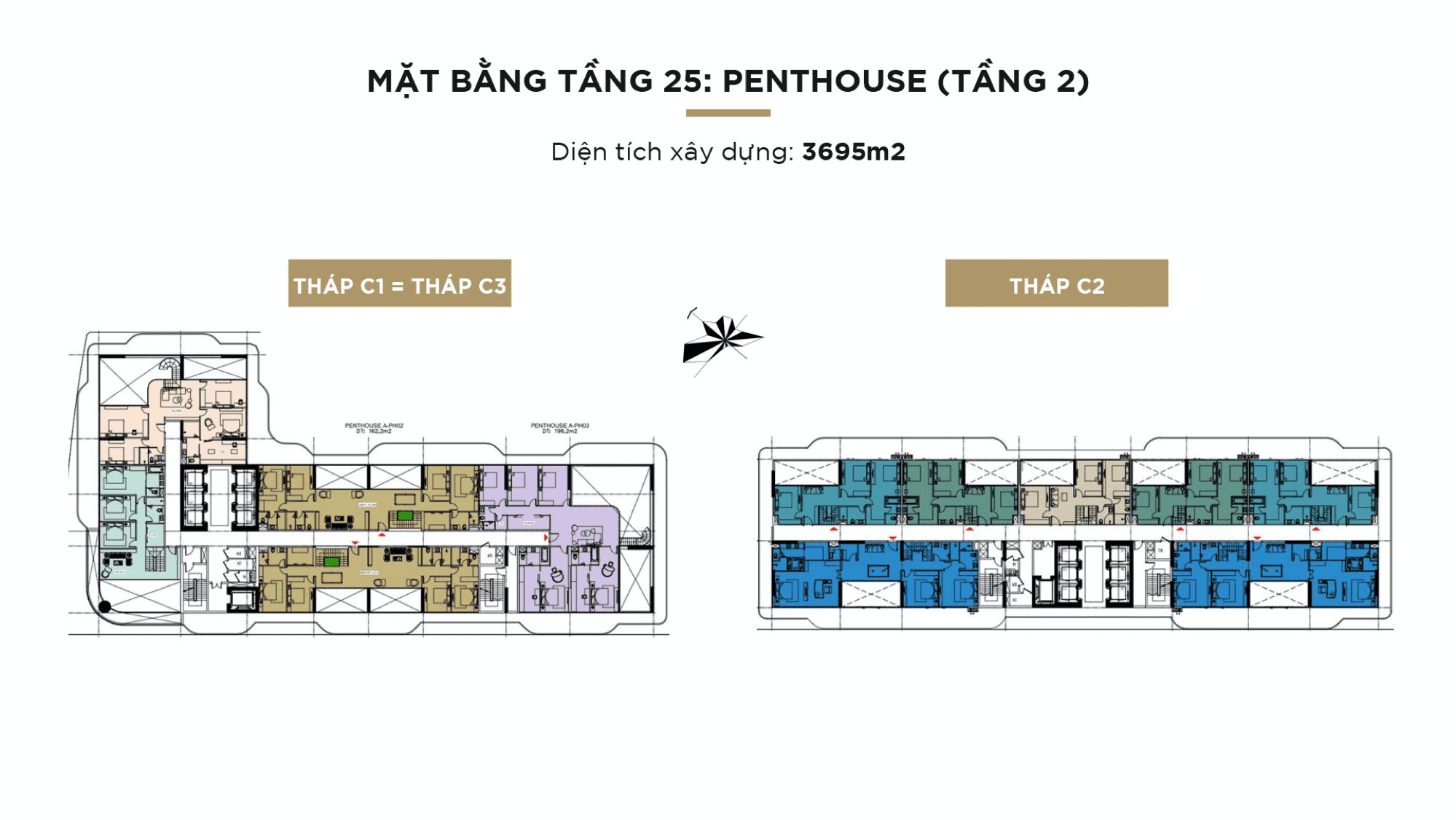 Mặt bằng Sunshine Continental tầng 25: Penthouse (tầng 2)