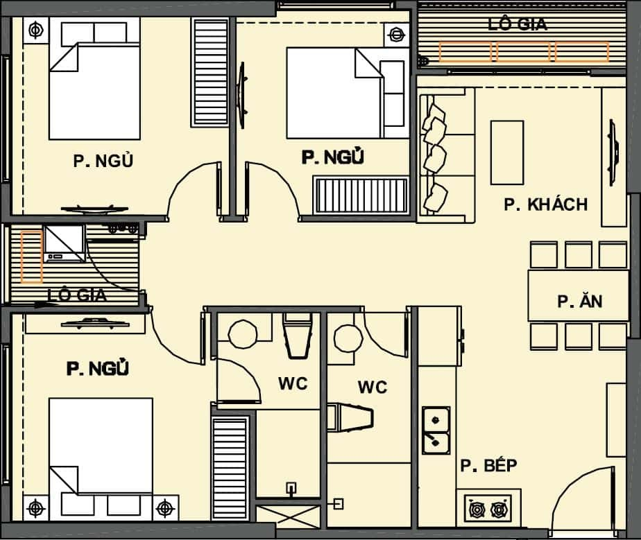 căn hộ 3PN Vinhomes Grand Park Quận 9