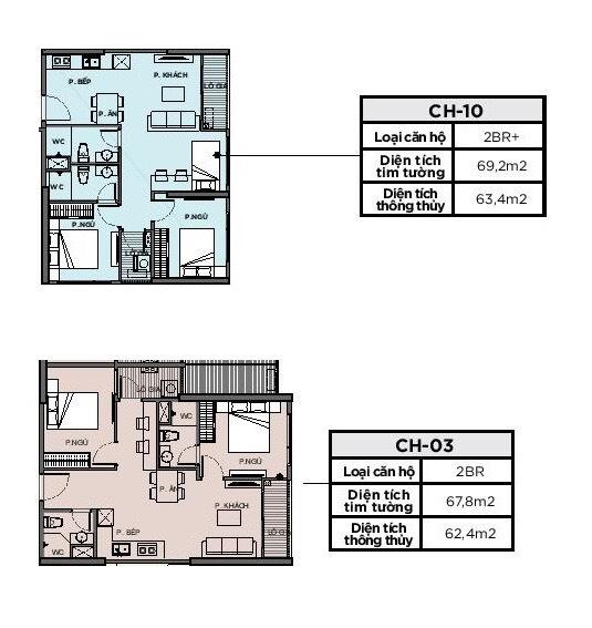 Thiết kế căn hộ 2 phòng ngủ vinhomes grand park