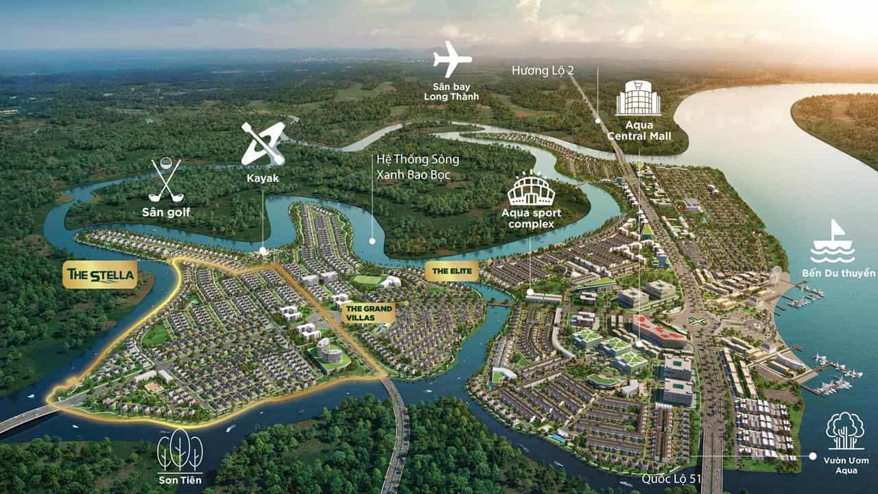 tổng thể dự án aqua city